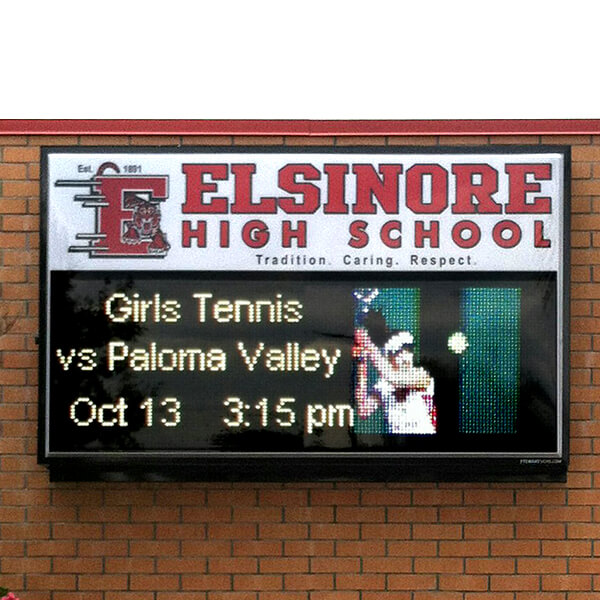 School Sign for Elsinore High School