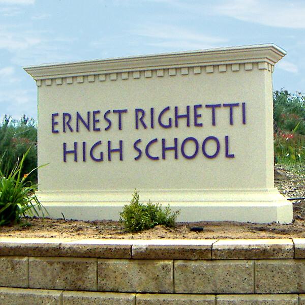 School Sign for Ernest Righetti High School