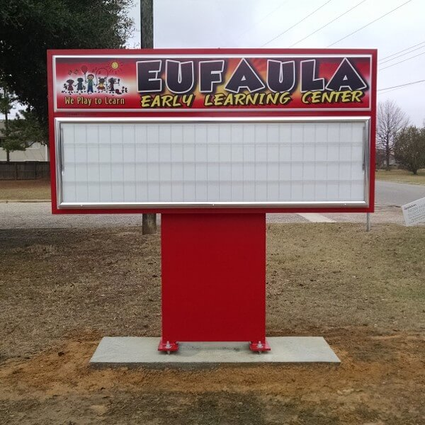 School Sign for Eufaula Early Learning Center