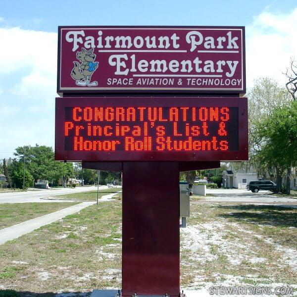 School Sign for Fairmount Park Elementary