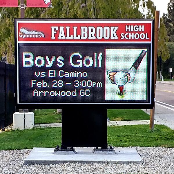 School Sign for Fallbrook Union High School