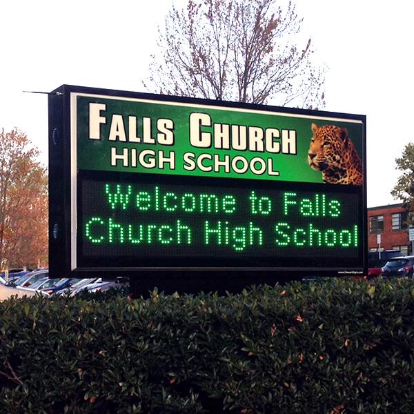 School Sign for Falls Church High School