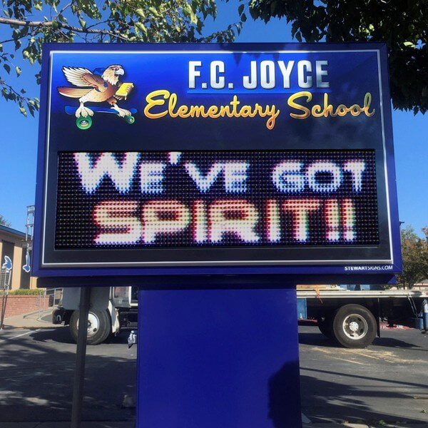 School Sign for Frederick Joyce Elementary