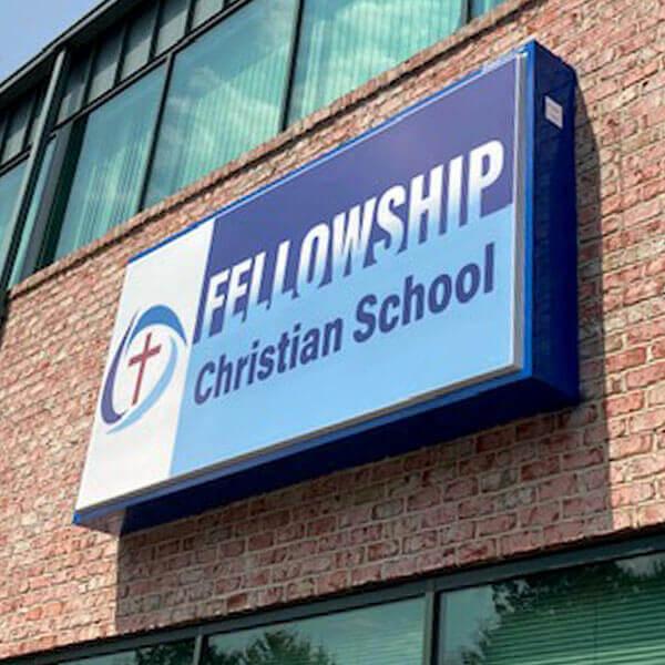 School Sign for Fellowship Christian School
