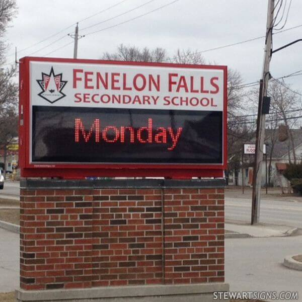School Sign for Fenelon Falls Secondary School