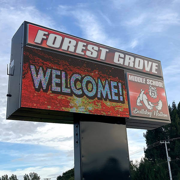 School Sign for Forest Grove Middle School