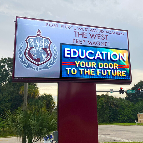 School Sign for Ft Pierce Westwood High School