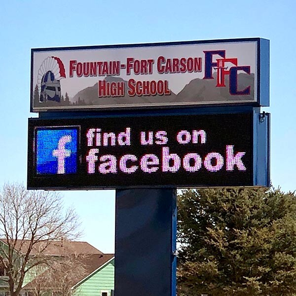 School Sign for Fountain-fort Carson High School