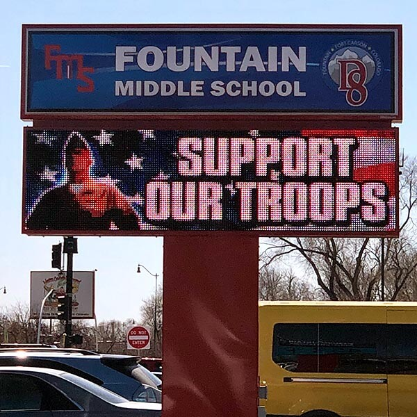 School Sign for Fountain Middle School
