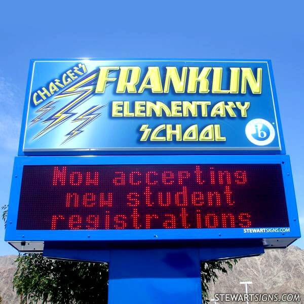 School Sign for Franklin Elementary