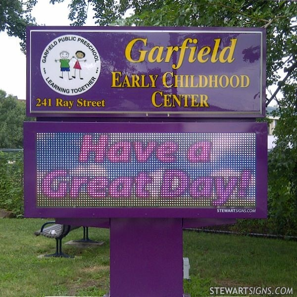 School Sign for Garfield Early Childhood Center