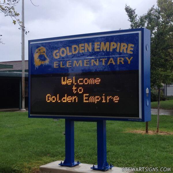 School Sign for Golden Empire Elementary School