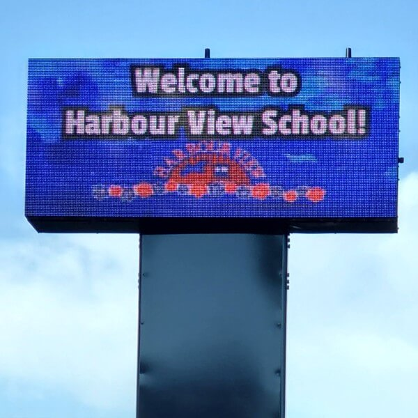 School Sign for Harbour View Elementary School
