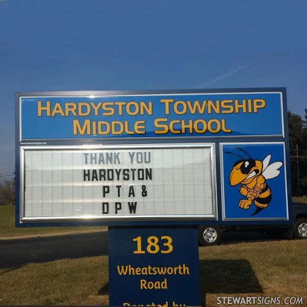 School Sign for Hardyston Township Middle School