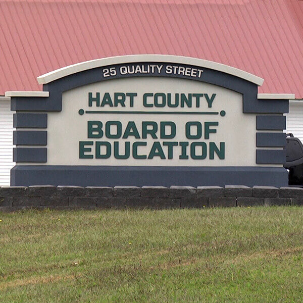 School Sign for Hart County Schools Board Of Education