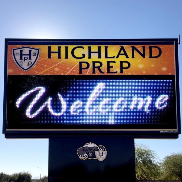 School Sign for Highland Prep