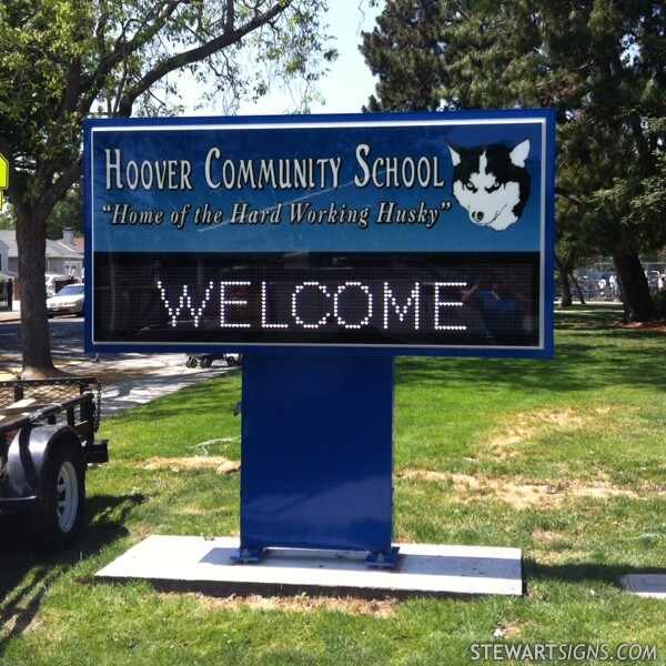 School Sign for Hoover Community School