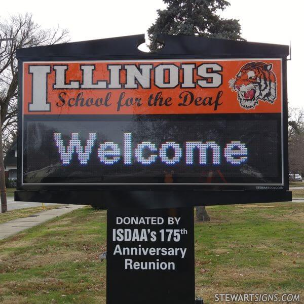 School Sign for Illinois School For The Deaf