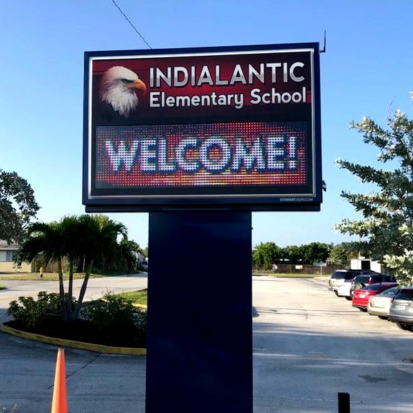 School Sign for Indialantic Elementary School
