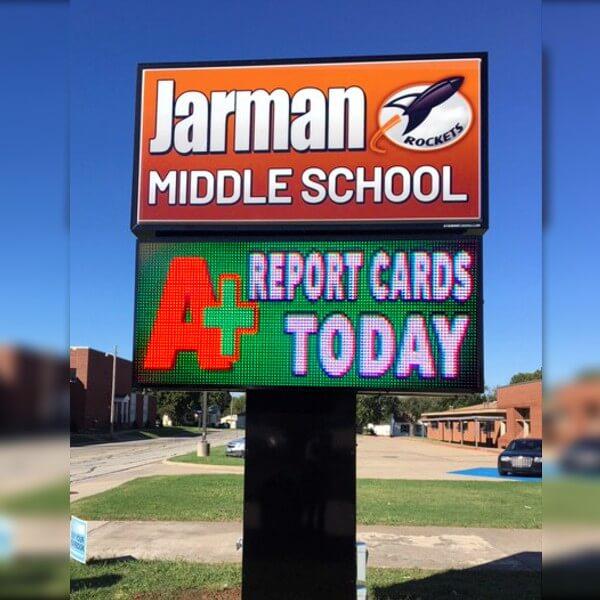 School Sign for Jarman Middle School