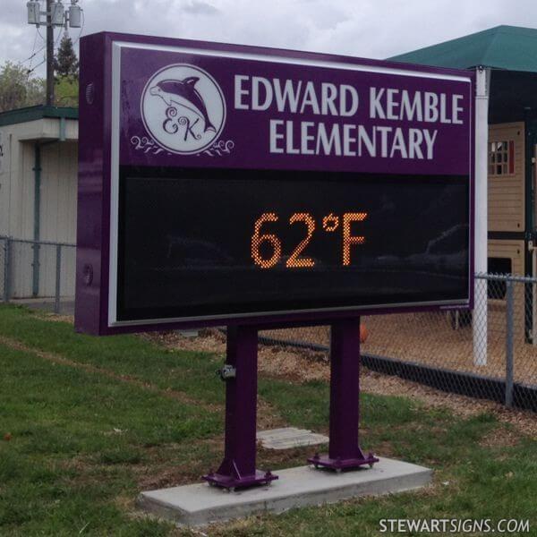 School Sign for Edward Kemble Elementary