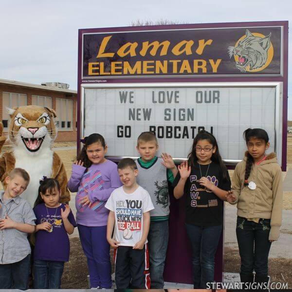 School Sign for Lamar Elementary