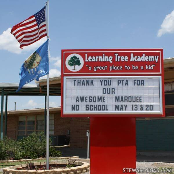 School Sign for The Learning Tree Academy