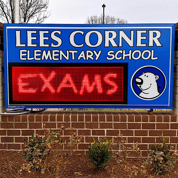 School Sign for Lees Corner Elementary School