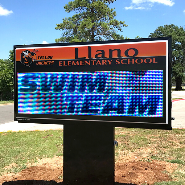 School Sign for Llano Elementary School