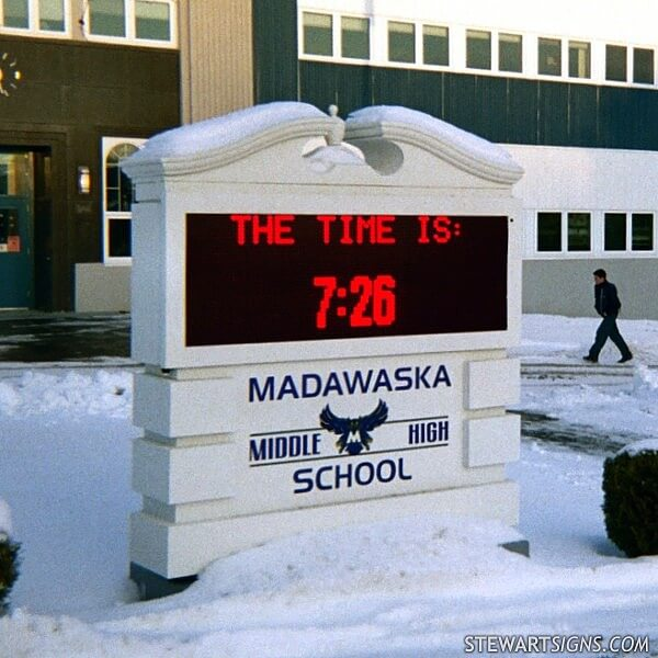 School Sign for Madawaska Middle / High School