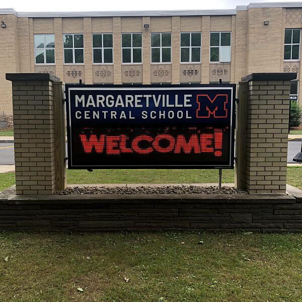 School Sign for Margaretville Central School