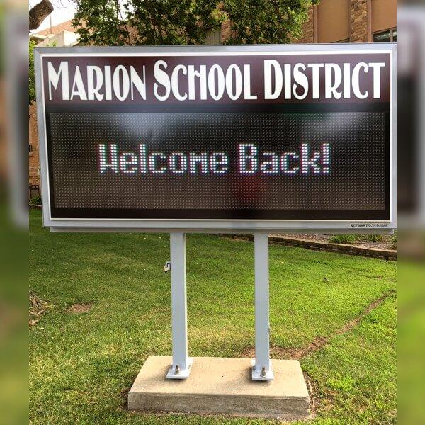 School Sign for Marion School District 60-3