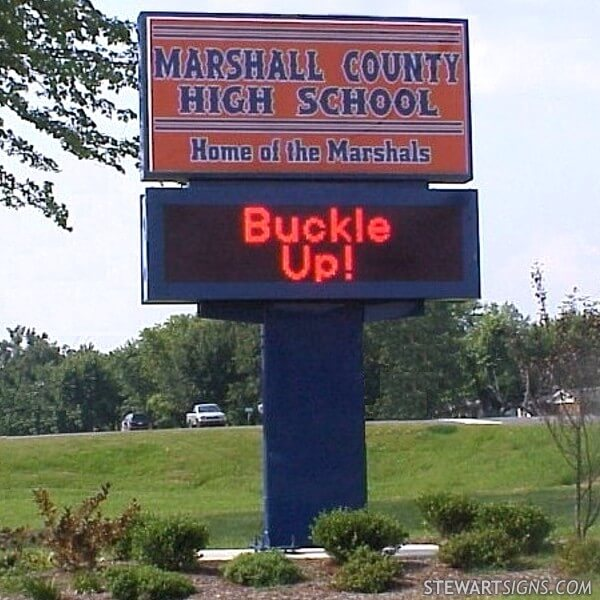 School Sign for Marshall County School District