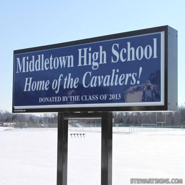 School Sign for Middletown High School