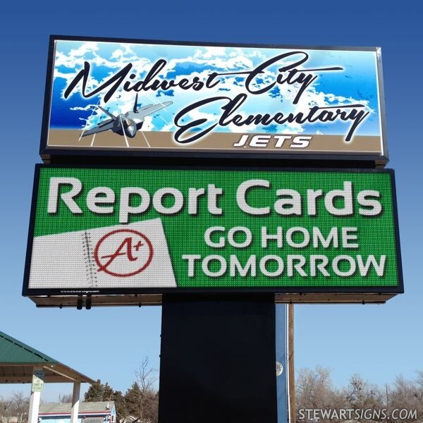 School Sign for Midwest Elementary School