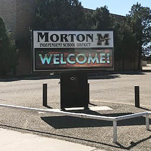 School Sign for Morton Independent School District