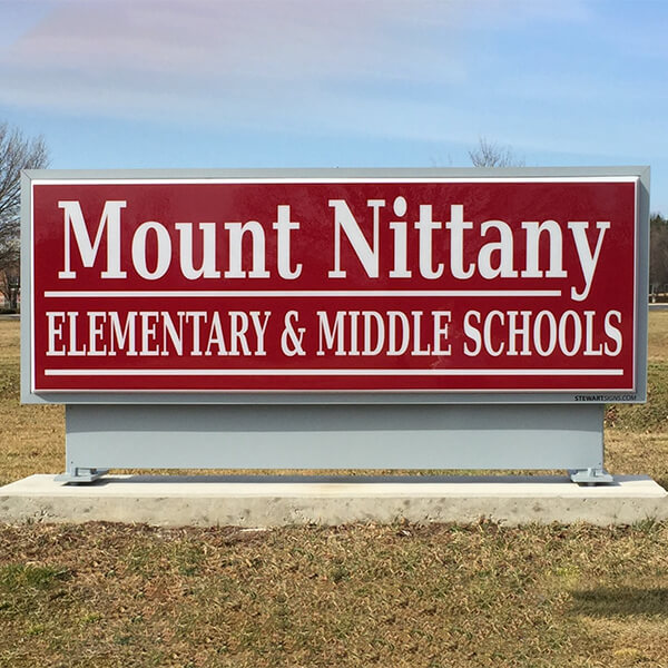 School Sign for Mount Nittany Middle School