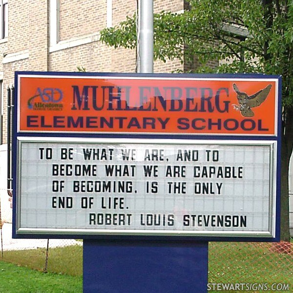 School Sign for Muhlenberg Elementary School