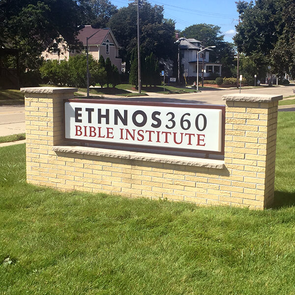 School Sign for New Tribes Bible Institute