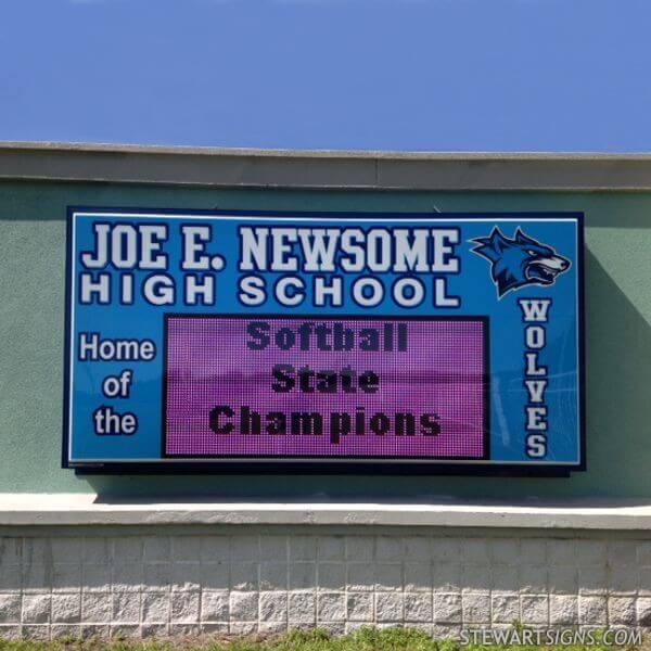 School Sign for Newsome High School