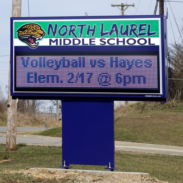 School Sign for North Laurel Middle School