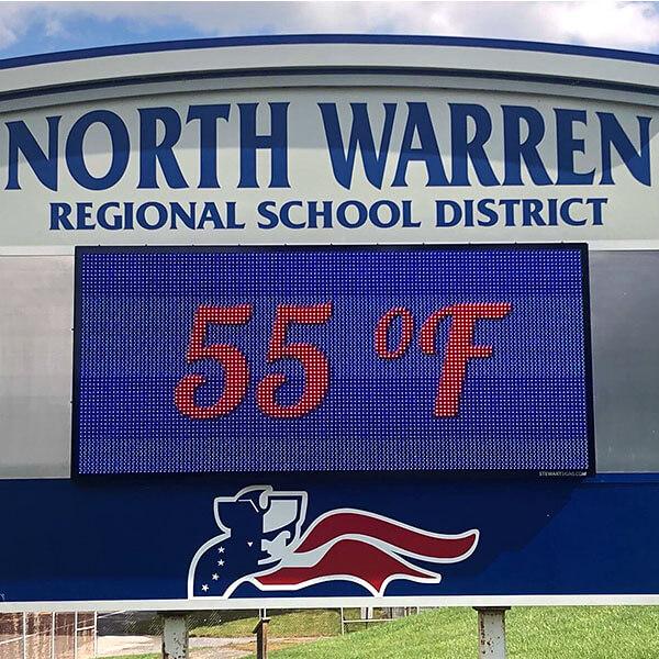 School Sign for North Warren Regional School District