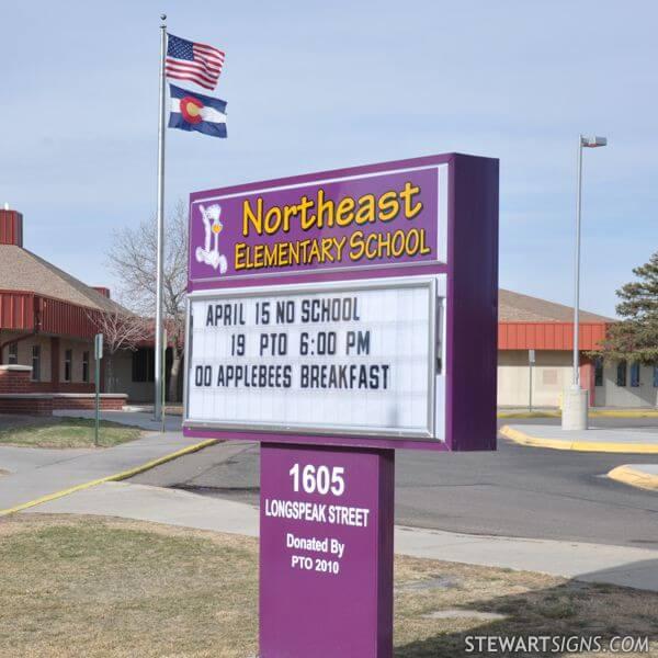 School Sign for Northeast Elementary School