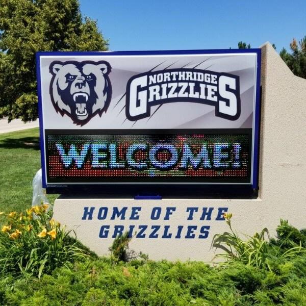 School Sign for Northridge High School