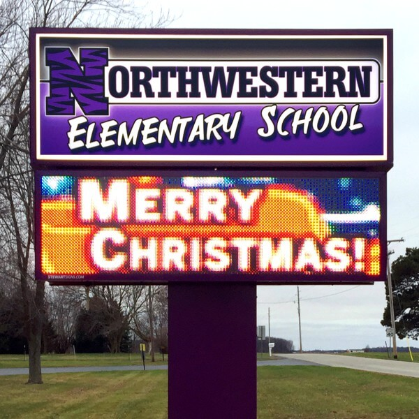 School Sign for Northwestern Elementary School