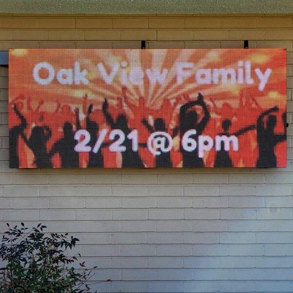 School Sign for Oak View Elementary School