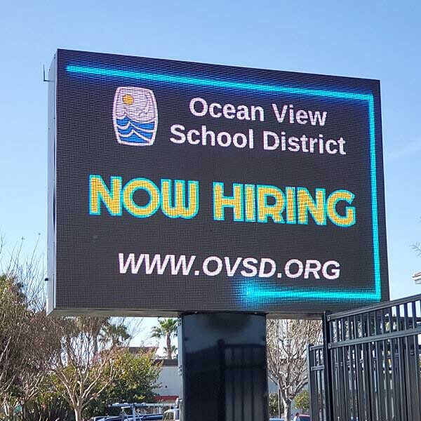 School Sign for Ocean View School District