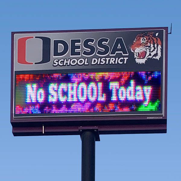 School Sign for Odessa School District #105