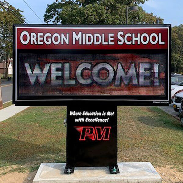 School Sign for Oregon Middle School
