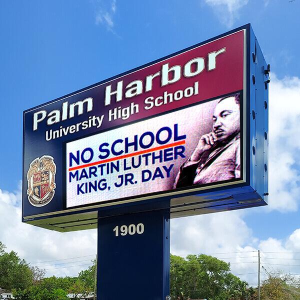 School Sign for Palm Harbor University High School